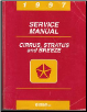 1997 Chrysler Cirrus / Dodge Stratus/ Plymouth Breeze Factory Service Manual (SKU: 812707121)