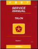 1997 Eagle Talon Service Manual - 2 Volume Set (SKU: 812707501-2)
