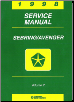 1998 Chrysler Sebring / Dodge Avenger Factory Service Manual - 2 Volume Set (SKU: 812708117-8)