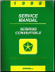 1998 Chrysler Sebring Convertible Factory Service Manual (SKU: 812708122)