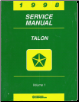 1998 Eagle Talon Factory Service Manual - 2 Volume Set (SKU: 812708500-1)