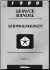 1999 Chrysler, Dodge Sebring & Avenger Factory Service Manual - 2 Volume Set (SKU: 812709117-2)