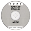1999 Dodge Neon Service Manual - CD Rom (SKU: 812709125CD)