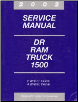 2002 Dodge DR Ram Truck 1500 only Factory Service Manual (SKU: 8137002059)