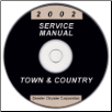 2002 Chrysler Town & Country, Dodge Caravan & Plymouth Voyager Service Manual - CD Rom (SKU: 8137002062CD)