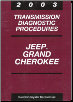 2003 Jeep Grand Cherokee Transmission Diagnostic Procedures (SKU: 8137003046)
