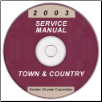 2003 Chrysler Town & Country Service Manual - CD Rom (SKU: 8137003062CD)