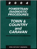2004 Chrysler Town & Coutnry and Dodge Caravan Factory Powertrain Diagnostic Procedures Manual (SKU: 8137004038)