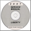 2007 Jeep Liberty (KJ) Service Manual on CD *XML & SVG* (SKU: 8137007060CD)