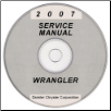 2007 Jeep Wrangler (JK) Service Manual on CD *XML & SVG* (SKU: 8137007063CD)