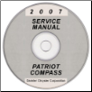 2007 Jeep Patriot and Compass (MK) Service Manual on CD *XML & SVG* (SKU: 8137007067CD)