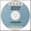 2008 Dodge and Chrysler Caravan and Town & Country (RT) Service Manual ON CD (SKU: 8137008062CD)