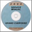 2008 Jeep Grand Cherokee Factory Service Manual on CD (SKU: 8137008064CD)