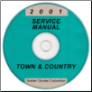 2001 Chrysler Town & Country Service Manual - CD Rom (SKU: 813701005CD)