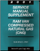 2001 Dodge Ram Van & Wagon Compressed Natural Gas Factory Service Manual Supplement (SKU: 813701007A)