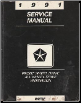 1991 Chrysler / Dodge / Plymouth Van / Wagon Front Wheel Drive All Wheel Drive Factory Service Manual (SKU: 813701105)