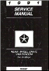 1991 Dodge Ram Van/Wagon Service Manual (SKU: 813701107)