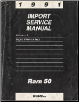 1991 Dodge Ram 50 Import Service Manual - 2 Volume Set (SKU: 8137011178)