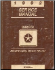 1992 Dodge Dakota Rear Wheel Drive Truck Service Manual (SKU: 813702110)