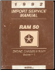 1992 Dodge Ram 50 Import Service Manual - 2 Volume Set (SKU: 813702117-8)
