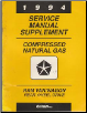 1994 Dodge Ram / Wagon Rear Wheel Drive Compressed Natural Gas Service Manual Supplement (SKU: 813704107b)