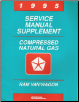 1995 Chrysler Ram Van/Wagon Compressed Natural Gas (CNG) Service Manual Supplement (SKU: 813705107A)