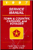 1997 Chrysler Town & Country, Caravan, Grand Caravan, Voyager & Grand Voyager Factory Service Manual (SKU: 813707105)