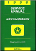 1998 Chrysler/Dodge Ram Van and Wagon Factory Service Manual (SKU: 813708107)