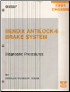1991 Chrysler Chassis Bendix Antilock-6 Brake System Diagnostic Procedures Manual (SKU: 816990138)