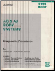 1991 Chrysler LeBaron / Dodge Dayton / Plymouth AG & AJ Body Systems Diagnostic Procedures (SKU: 816990146)
