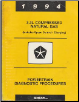 1994  Chrysler / Dodge / Plymouth 3.3L Compressed Natural Gas Powertrain Diagnostic Procedures (SKU: 816990452)