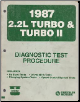 1987 Chrysler / Dodge / Plymouth 2.2L Turbo & Turbo II Vehicles Diagnostic Test Procedures (SKU: 816997012)