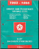 1993 - 1995 Chrysler / Dodge / Plymouth Driver and Passenger Airbag (CCD) Body Diagnostic Procedures (SKU: 8169994017)