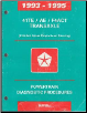 1993 - 1995 Chrysler / Dodge / Plymouth 41 TE / AE F4AC1 Transaxle Powertrain Diagnostic Procedures (SKU: 8169994030)