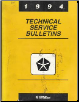 1994 Chrysler Technical Service Bulletins (SKU: 8169995054)