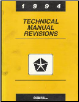 1994 Chrysler Technical Manual Revisions (SKU: 8169995055)