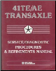 1989-1997 Chrysler / Plymouth / Dodge 41TE/AE Transaxle Service / Diagnostic Procedures & Refinements Manual (SKU: 8169996221)
