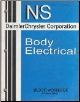 1999 Daimler Chrysler Corporation NS Body Electrical Student Workbook (SKU: 8169999083)