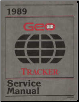 1989 Geo Tracker Factory Service Manual (SKU: ST37789)