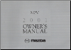 2001 Mazda MPV Factory Owner's Manual (SKU: 8P89EA00G)