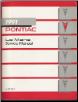 1991 Pontiac Lemans Factory Service Manual (SKU: S9110T)