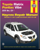 2003 - 2011 Toyota Matrix & Pontiac Vibe Haynes Repair Manual (SKU: 1563929643)