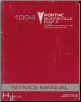 1994 Pontiac Bonneville Factory Service Manual, 2 Volume Set (SKU: S9410H-1-2)