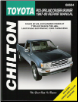 1997 - 2000 Toyota Pick-Ups, Land Cruiser & 4Runner, 2 & 4 Wheel Drive Models, Chilton's Total Car Care Manual (SKU: 156392417X)