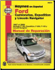 Ford Camionetas, Expedition y Lincoln Navigator Haynes Manual de Reparación: Ford F150 (1997 al 2003), Ford Expedition (1997 al 2009), Ford F250 (1997 al 1999), Ford F150 Heritage (2004), Lincoln Navigator (1998 al 2009) (SKU: 9781563928895)