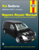 2002 - 2014 Kia Sedona Haynes Repair Manual (SKU: 9781620921494)