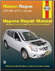 2008-2015 Nissan Rogue Haynes Repair Service WorkShop Manual (SKU: 9781620921999)