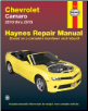 2010 - 2015 Chevrolet Camaro Haynes Repair Manual (SKU: 9781620922002)