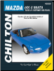 1990 - 2014 Mazda MX-5 & Miata, Chilton's Total Car Care Manual (SKU: 9781620922415)
