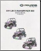 2011 - 2012 Polaris Ranger RZR 800 ATV Factory Service Manual (SKU: 9923520)